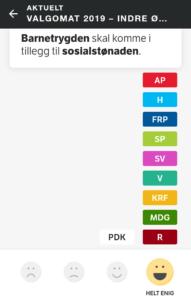 NRKs valgomat 2019